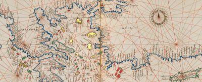El Mediterráneo de la Antigüedad clásica cartografiado por Agnese