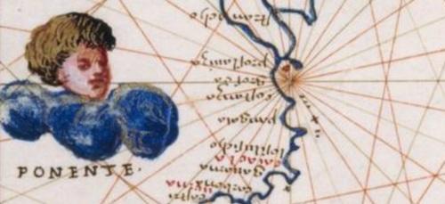 Uno de los querubines que dibujó Agnese para represtar los vientos, en este caso el ponin