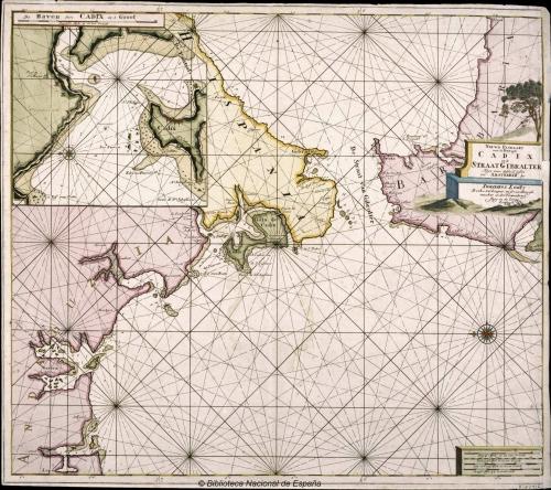 Bahía de Cáiz y Estrecho de Gibraltar. Inicios S. XVIII. Más información.
