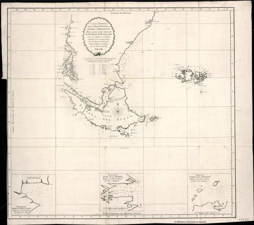 Sudamérica y Estrecho de Magallanes. s. XVIII