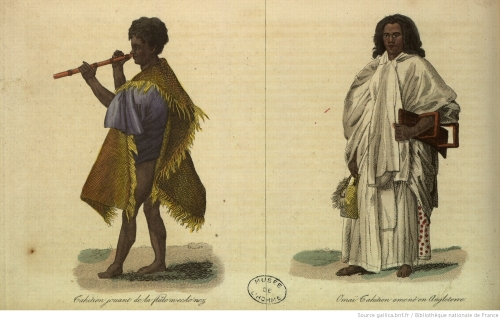 Habitantes de la isla a principios S. XIX