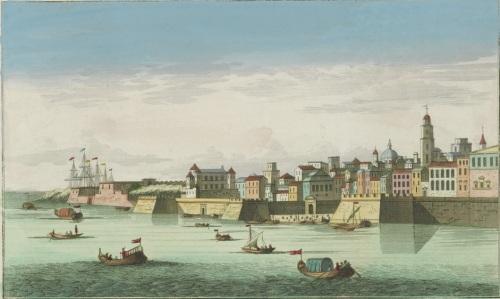 La bahía en 1760. Fuente