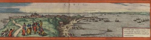 La bahía de Cádiz dibujada en el siglo XVI. Fuente