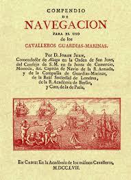 Cubierta del libro que escribió Jorge Juan para la enseñanza de los cadetes