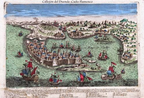 Plano de la ciudad al inicio del siglo XVIII. Fuente.