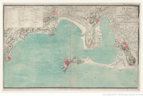 Plano de Cádiz levantado en 1789 por uno de sus hijos ilustres, Vicente de Tofiño.
