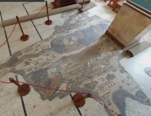 mapa en el suelo