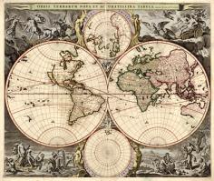 El mapa mundi de Visscher (S. XVII)