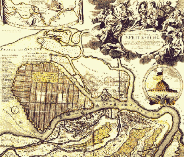 San Petersburgo en 1717