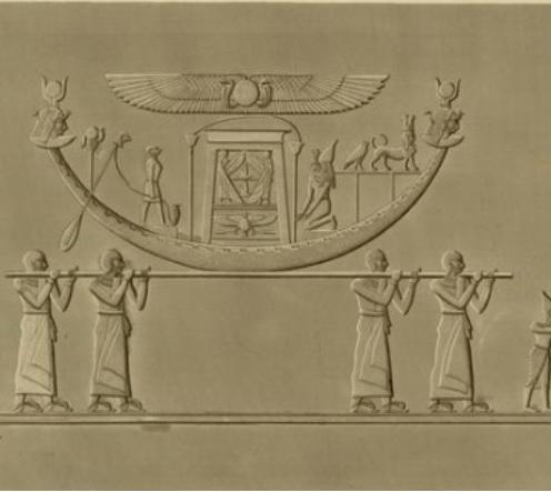 Relieve del gran templo. Isla Filae