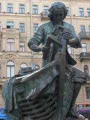 Estatua homenaje a Pedro I de Rusia en San Petersburgo
