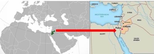 Localización Petra en el mapa
