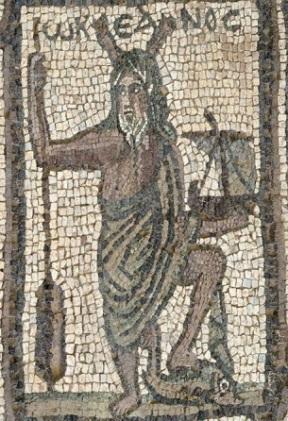 Oceanus en un mosaico romano