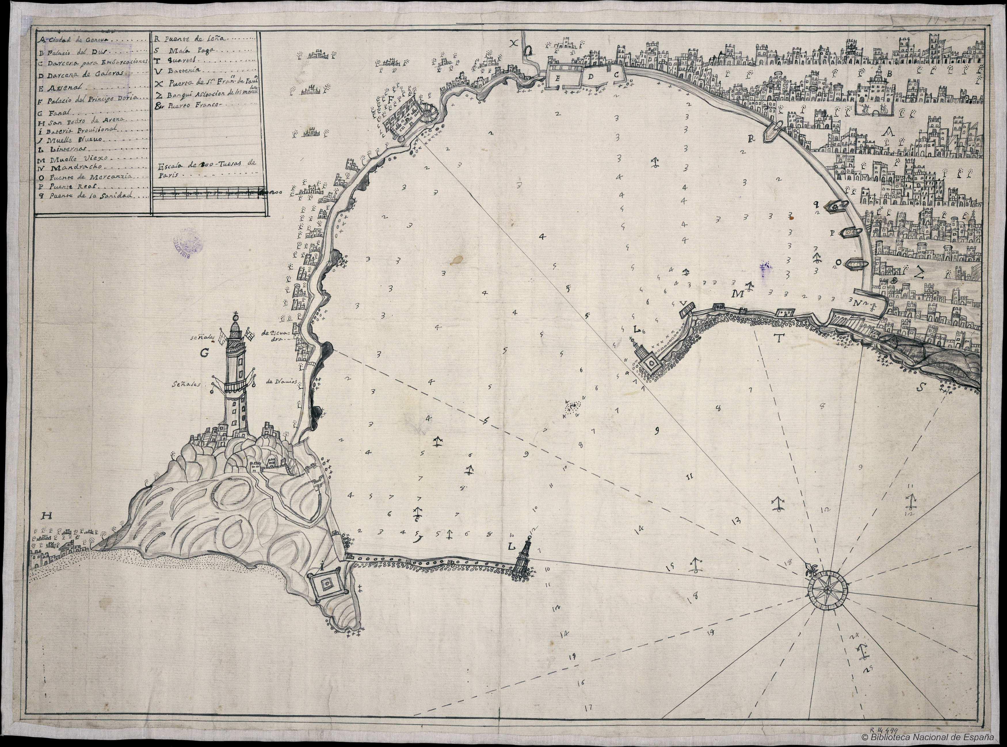 _Plano_del_puerto_y_ciudad_de_Génova_Material_cartográfico__1