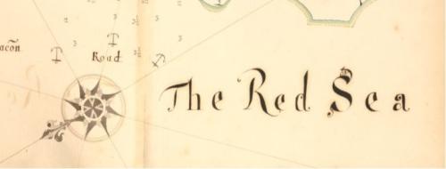 El Mar Rojo letrero
