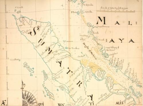 estrecho Malaca sin marco