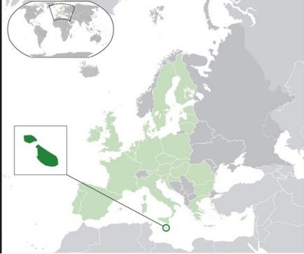 localización Malta en le mapa mundi