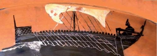 nave griega anfora