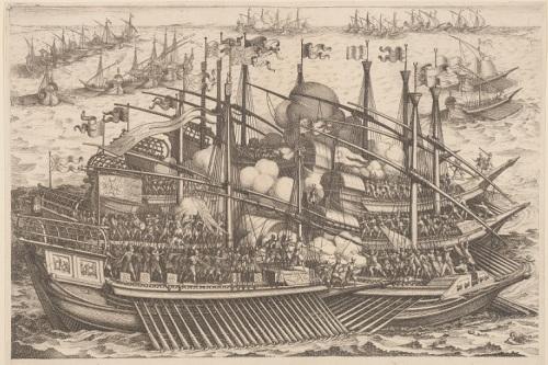 Combate naval XVII, de Callot mej