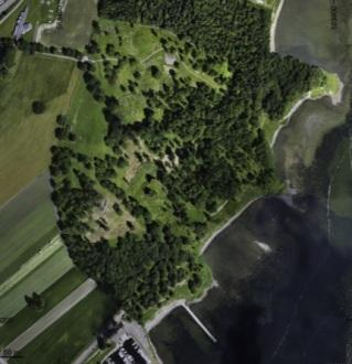 Una imagen aérea de la zona