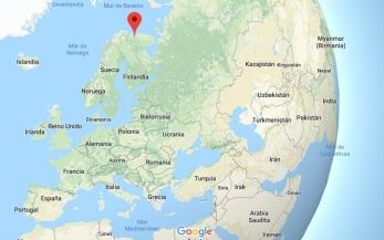 Localización de la base de Murmansk