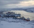 Una imagen actual del puerto de Murmansk