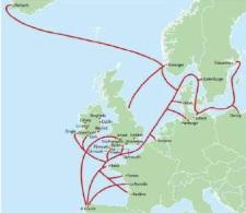 Rutas comerciales desde el norte de Europa con Galicia. Rodríguez 2017