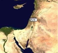Localización de Acre en Israel