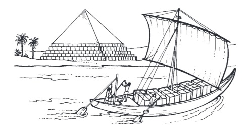transporte piedra Nilo