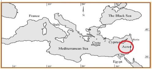 Acre en el Mar Mediterráneo