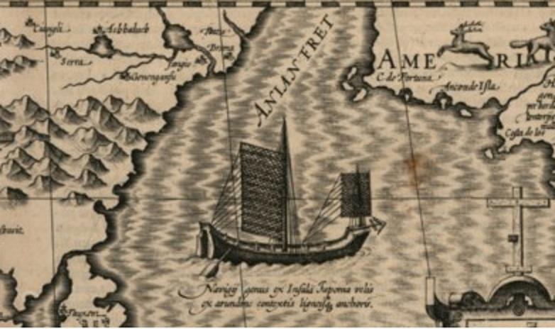 Junco chino mapa XVII Gallica