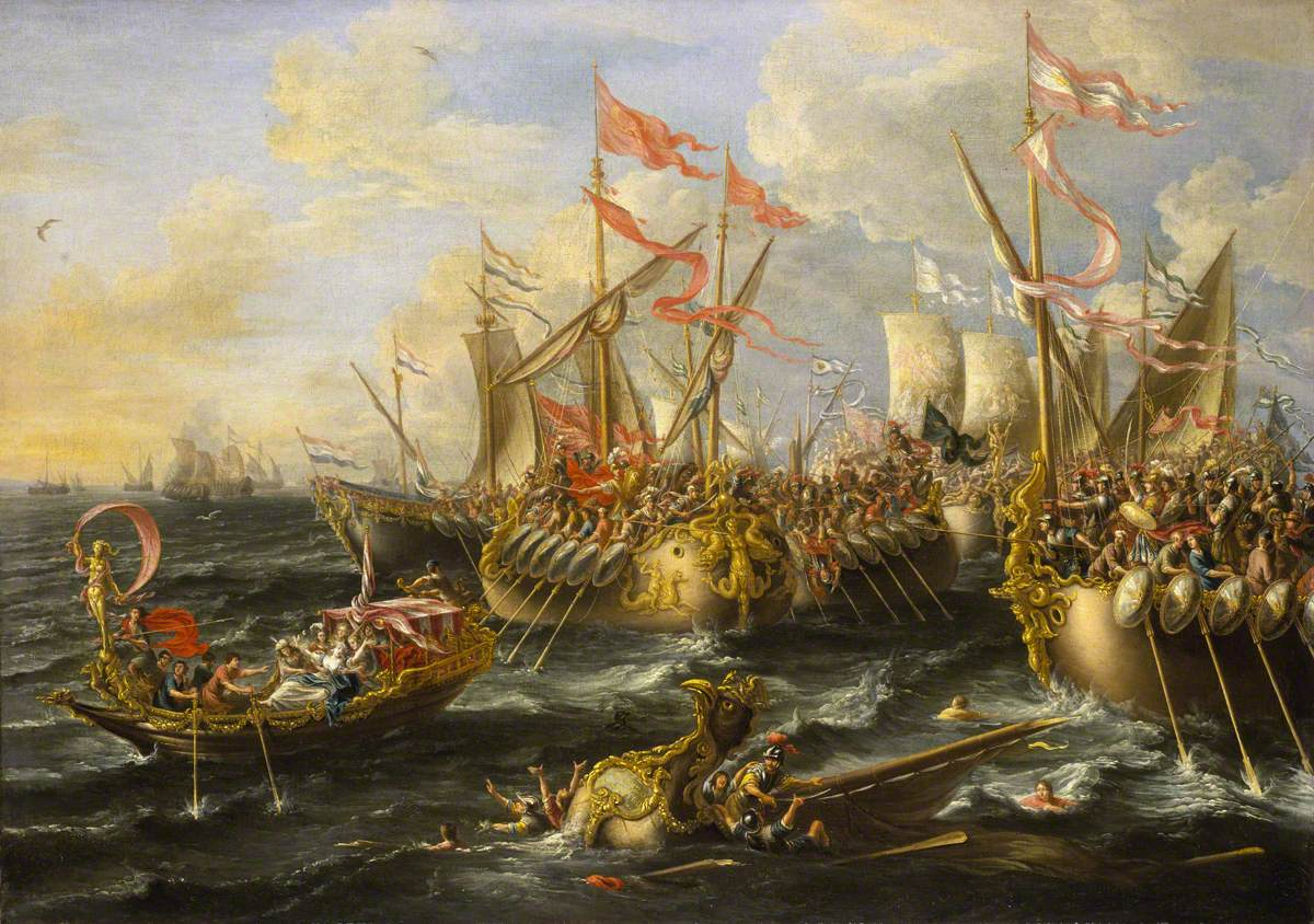 Castro, Lorenzo a, active c.1664-c.1700; The Battle of Actium, 2 September 31BC