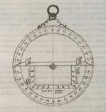 un astrolabio dibujado en la obra de Chaves